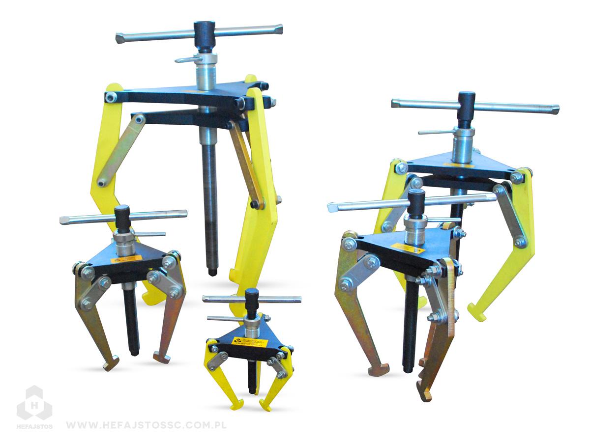 Ściągacze trójramienne samocentrujące - narzędzia, producent